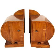 Pair of Art Deco Period Teak Side Tables | 1stdibs.com