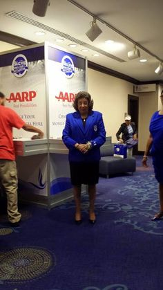 Our International Grand Basileus, Mary B. Wright at the AARP Station at the 2014 Boule in Washington, D.