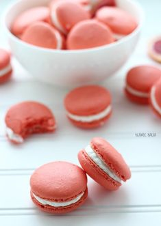 These blood orange walnut macarons are sweet, crunchy and bursting with the bright winter citrus flavors of blood oranges. Easy Desserts, Delicious Desserts, Dessert Recipes, Small Desserts, Keto Desserts, Sweet Desserts, Kouign Amman, Yummy Treats, Sweet Treats