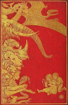 Henry Justice Ford , Cover design for The Crimson Fairy Book, Andrew Lang, 1903