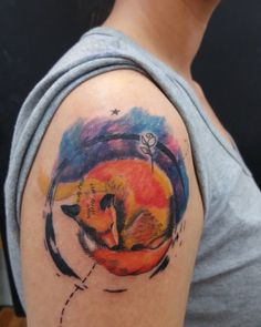 little prince tattoo fox space designed by me