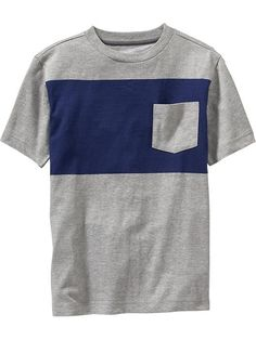 Boys Color-Block Pocket Tees Product Image