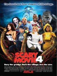 Scary Movie 4:  The Scary Movie gang is back for their funniest, most fearless installment yet. -Starring Anna Faris & Regina Hall (previous Scary Movie films), Leslie Nielsen (The Naked Gun, Airplane), Carmen Electra (Cheaper by the Dozen 2) http://www.reallygreatstuffonline.com/scary-movie-4/