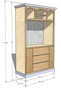 JRL Woodworking | Free Furniture Plans and Woodworking Tips: Furniture Plans: Built-in Entertainment Center/Media Hutch