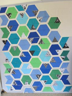 Hexagon quilt by pseitas, via Flickr