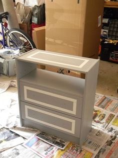 Ikea Rast Hack. leave top drawer open for books