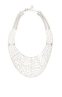 Filigree Plate Necklace   BCBG