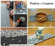Suporte (ou Bandeja) feita de Pedra e Carpete | SOS Solteiros