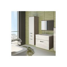 Meble do łazienki EVO Mini trufel/biały połysk