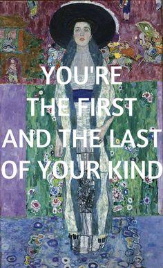 "Portrait of Adele Bloch-Bauer II by Gustav Klimt // ""Every Other Freckle"" by Alt-J"