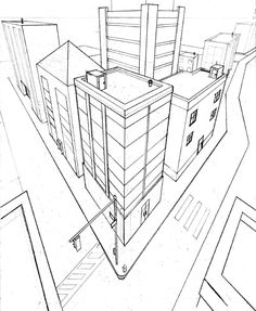 e128611297a71720ca76a17c89195ec6 3 point perspective skyscraper has three vanishing points all on 3 point perspective template