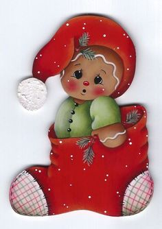 HP GINGERBREAD Christmas Stocking FRIDGE MAGNET by stonehouse28