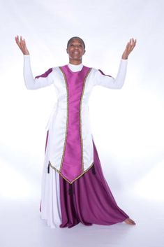 New Wine Ephod / Majestic Looking Ephod w/TasselsNote: Royalty Leotard (White Fuchsia) and Skirt (Not Included) Note: Hand Wash Only Praise Dance Dresses, Garment Of Praise, Dance Uniforms, Worship Dance, Dance Tops, Dance Outfits, Choir, Leotards, Ministry