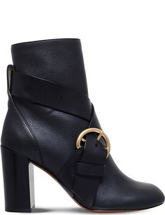 CHLOE Nils buckled leather ankle boots