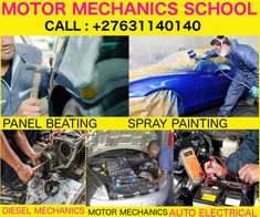 learn how to panel beat and spray paint cars after short guide to panel beating courses which equips you with skills to inspect and repair vehicles or plant, factories or industries diesel engines in parts at our school. Spray Paint Cans, Spray Painting, Auto Mechanic School, Hollywood Sign Hike, Welding Schools, Diesel, Pipe Fitter, Welding Training, Tractor Loader