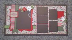 2 Pages 6 Photos Layout Papel Scrapbook, Scrapbook Templates, Wedding Scrapbook, Baby Scrapbook, Scrapbook Paper Crafts, Scrapbook Cards, Scrapbook Layout Sketches, Scrapbooking Layouts, Christmas Scrapbook Layouts