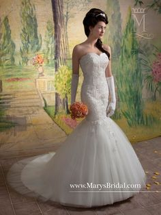 64fb64bfd Beautiful mermaid bridal gown for a Sunflower wedding