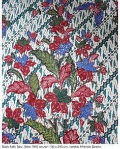 Stunning batik - traditional background overlaid with Dutch-influenced floral design.