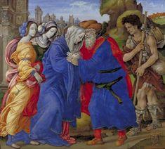 Filippino Lippi  - L'incontro di Gioacchino e Anna alla porta Aurea - 1497 - Copenaghen, Statens Museum for Kunst