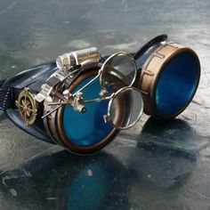 Handmade Burning Man's Steampunk Goggles