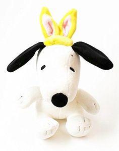 Snoopy Easter Bunny Ears 8'' Plush