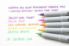 Sharpie 80s Glam Permanent Marker Pen http://www.jetpens.com/Sharpie-80s-Glam-Permanent-Marker-Pens-Limited-Edition/ct/1195