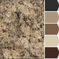 Instantly turn any picture into a palette with Chip It!, created for you by Sherwin-Williams. ****kilim beige for the exterior? Kitchen Paint Colors, Interior Paint Colors, Paint Colors For Home, House Colors, Warm Paint Colors, Kitchen Redo, New Kitchen, Venetian Gold Granite, Brown Granite Countertops
