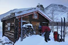 Ski In Cabin At Rondane National Park Norway