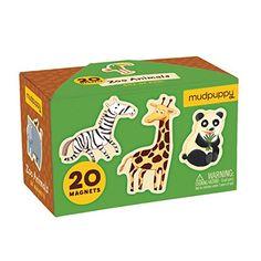 Mudpuppy Zoo Animals Box of Magnets Mudpuppy