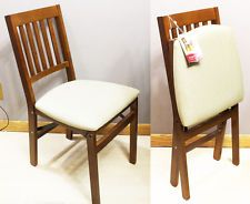 #Folding Chair, #Wooden Folding Chair With Leather Seat, #Wood Folding Chair  With Cushion Seat | Game Room | Pinterest | Wooden Folding Chairs, Folding  ...