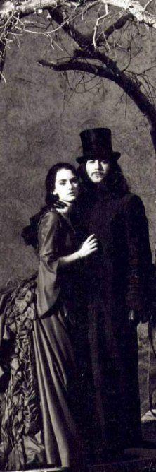 ~ Winona Ryder and Gary Oldman as #Mina and #Dracula.