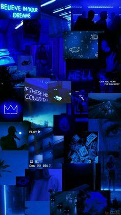 blue aesthetic Forgive me, God. I nevr b in me . Blue Aesthetic Tumblr, Blue Aesthetic Dark, Black Aesthetic Wallpaper, Iphone Wallpaper Tumblr Aesthetic, Aesthetic Colors, Aesthetic Collage, Aesthetic Backgrounds, Tumblr Wallpaper, Aesthetic Wallpapers