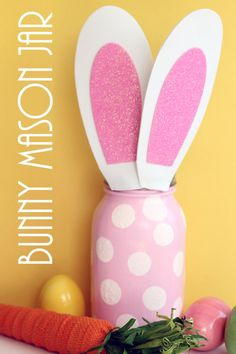 Make this bunny mason jar for Easter or any other spring holiday! Perfect for your home decor or add in a gift for gift giving!