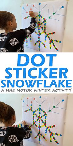 Dot Sticker Snowflake Dot Sticker Snowflake – HAPPY TODDLER PLAYTIME Here is an easy to set up fine motor winter activity. Let your toddler or preschooler decorate a snowflake using dot stickers! Includes step by step guide to draw a snowflake! Winter Activities For Kids, Winter Crafts For Kids, Winter Fun, Craft Activities, Toddler Activities, Winter Crafts For Preschoolers, Winter Preschool Crafts, Kids Crafts, Preschool Christmas Activities