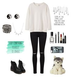 """""""You are Beautiful"""" by fireworkm ❤ liked on Polyvore featuring Miss Selfridge, La Garçonne Moderne, Accessorize, Sally Hansen, Burberry, Lancôme and NARS Cosmetics"""