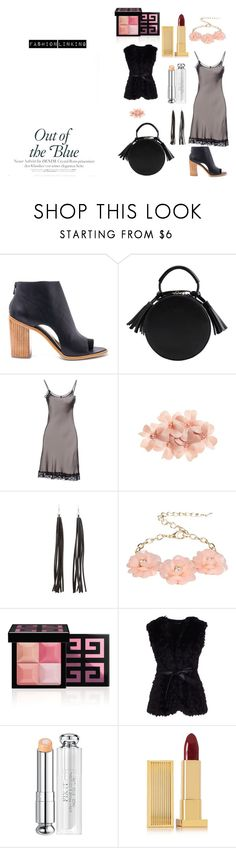 """""""Amazing Thrusday."""" by patriciapatt ❤ liked on Polyvore featuring Loeffler Randall, KAOS, Tasha, Charlotte Russe, Dettagli, Givenchy, GUESS by Marciano, Christian Dior and Lipstick Queen"""