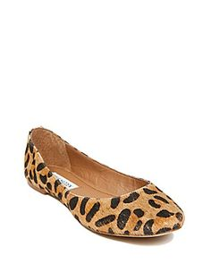 $90 leopard ballet flat. read somewhere to order a half size up.