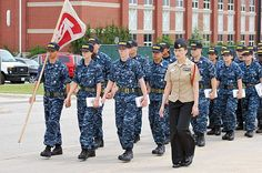 Master-at-Arms 1st Class Jessica Reyna marches with her division at Recruit Training Command. #RTC #bootcamp #USNavy   BUY YOUR RING TODAY - GO TO https://www.militaryonlineshopping.com/store/home.php?cat=150 for all the details