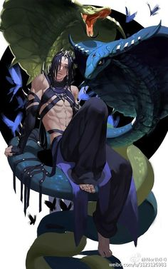 Typhon son of Gaea and Tartarus, father of Cerberus, Hydra, Chimera and Nemean Lion Fantasy Character Design, Character Design Inspiration, Character Concept, Character Art, Concept Art, Art Anime, Manga Anime, Yandere Manga, Dnd Characters