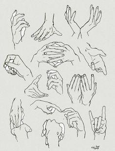 """""""手の描き方リクエスト ・爪、関節、骨は意識して描いてます。半月時々 ・手首はアーチ、軽い三角意識して描いてます。 ・その他の線は手のひらの線をおおまかに描いて、手の甲のこぶしは基本人差し指と小指の所だけ意識して描いてます。(中指例外)"""""""