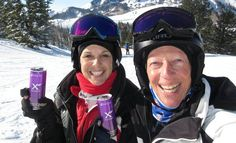 Our Xe Energy Drink delivers an all-natural energy boost without harsh stimulants! Check out Shari and Andy Rosenberg, as they drink an Xe Energy Drink on the slopes!