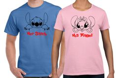 Disney Lilo and Stitch and Angel Matching Couples Tee by 503made
