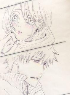 Bleach Anime Art, Bleach Fanart, Bleach Manga, Bleach Ichigo And Rukia, Bleach Couples, Fantasy Couples, Shinigami, Anime Ships, Ms Gs