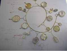 """""""Lunaria Necklace was made for a show in 2005, at the Racine Art Museum, entitled 'Magnificent Extravagance.'"""""""