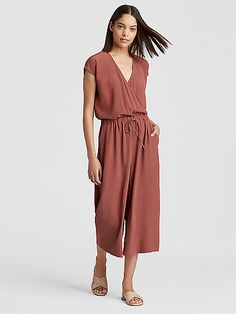Free standard shipping on all Continental US orders. Shop women's casual clothing that effortlessly combines timeless, elegant lines with eco-friendly fabrics from EILEEN FISHER. Loose Pants, Cropped Pants, Weekend Wear, Elegant Outfit, Eileen Fisher, Wide Leg, Cold Shoulder Dress, Jumpsuit, Style Inspiration