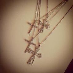 Have Faith!   #diamondcrosses #diamondnecklace