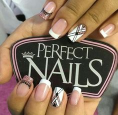 Cute Nails, Pretty Nails, Simple Nail Designs, Stylish Nails, Creative Nails, Perfect Nails, Nail Trends, Short Nails, Nail Arts