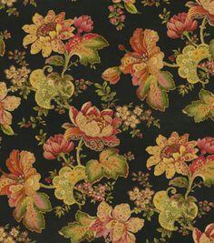 Home Decor Print Fabric-SMC Designs Luxuriance OnyxHome Decor Print Fabric-SMC Designs Luxuriance Onyx,