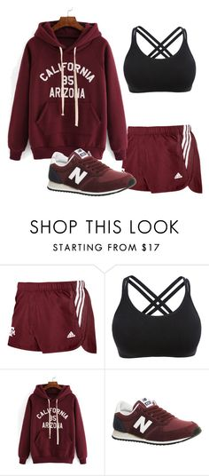 """sport"" by dreamer3108 on Polyvore featuring adidas, New Balance, women's clothing, women, female, woman, misses, juniors and sport"