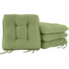 Better Homes and Gardens Quilted Chair Pads, Set of 4, Green